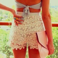 Lace shorts! :)