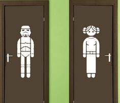 Vinyl Wall Decal Sticker Restroom Sign Star Wars by ALLSTICKERS