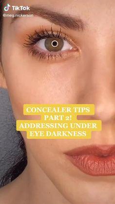 Under Eye Makeup, Under Eye Concealer, Simple Eye Makeup, Natural Makeup, Eyebrow Makeup Tips, Makeup Videos, Skin Makeup, Makeup 101, Light Makeup Looks