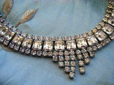 Rhinestone Necklace Vintage