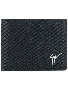 4965ea9d8024 GIUSEPPE ZANOTTI DESIGN   Textured Billfold Wallet - Black   $435   This  black textured billfold