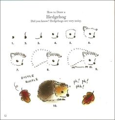 How to draw a living pincushion.