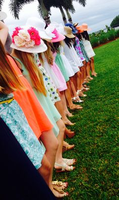 Kentucky Derby style brunch party. Sundresses and big hats :)