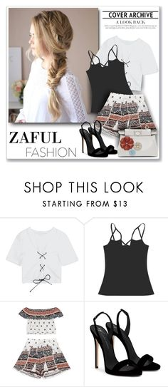 """Zaful Fashion117"" by sneky ❤ liked on Polyvore featuring Giuseppe Zanotti, Fendi, polyvoreeditoria and zaful"