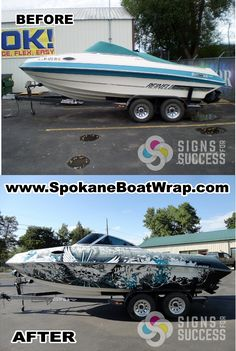 Reinell Boat custom vinyl wrap