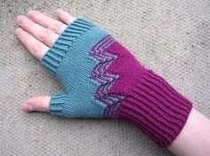 Deco Gloves and Fingerless Mitts PDF knitting pattern image 1 Small Knitting Projects, Knitting Designs, Knitting Patterns Free, Fingerless Gloves Knitted, Knit Mittens, Elegant Gloves, Loom Knitting, Knit Crochet, Etsy