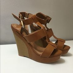 Charming Charlie wedges heels size 6 Super cute sandals perfect for the coming seasons Charming Charlie Shoes Wedges