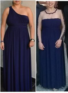 before and after the dress