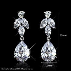 Find More Drop Earrings Information about Wedding Accessories Clear Cubic Zirconia Dangle Earrings Fashion jewelry Rhodium Plated Drop Earrings For Women,High Quality earrings snake,China earring making accessories Suppliers, Cheap earrings peru from Fashion Smile-Enjoy Your Life on Aliexpress.com