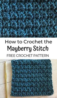 How to Crochet the Mayberry Stitch - #crochet