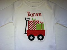 Christmas shirt - wagon with gifts - cure for a boy