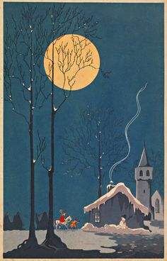 Beautiful old image about 5 december, the night Sinterklaas came by, a Dutch tradition. #greetingsfromnl