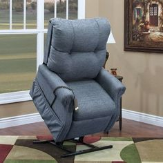 Med-Lift 2 Position Lift Chair with 2 Way Recline Upholstery: Majestic Solid Poly - Black, Arm/Head Covers: No