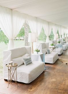 Wedding lounge in reception tent for an Aspen, Colorado wedding designed by Tara Guerard Soiree; photo by Corbin Gurkin