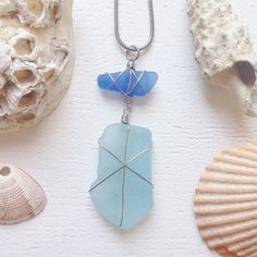 Electric blue & sky blue sea glass necklace £30 :-) now listed in my online shop (link in bio) #seaglass #seapottery #beachglass #upcycled #surfergirl #bluenecklace #artjewelry #flotsamandjetsam #mermaid #mermaidnecklace  #bohochic #bohonecklace #hippiechic #hippienecklace #wirewrappednecklace #glassnecklace #seasalt #beach #freepeople #seaglassnecklace #beachcombing #organic #summernecklace #mudlarking #ecofriendly #recycledglass #blueseaglass #aquamarine #beachshackproject