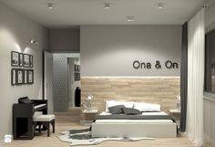 Projekt wnętrza mieszkania 99m2 - Duża sypialnia małżeńska, styl minimalistyczny - zdjęcie od m.design
