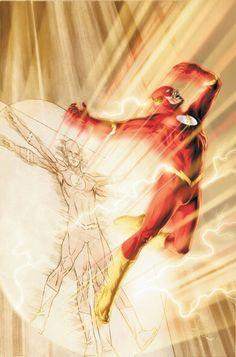 The Flash-The fastest man alive by Doug Braithwaite Flash Barry Allen, Flash Comics, Arte Dc Comics, Kid Flash, Flash Art, Superman, Batman, Dc Speedsters, Dr Fate