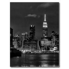 USA - New York - Night view of Manhattan Carte Postale