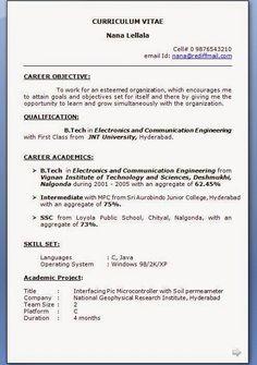 C unix resume phd iit or rec