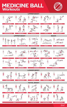 Workout Poster / Fitness Poster / Exercise Posters For Home Gym Gym Workout Chart, Gym Workout Tips, 30 Minute Workout, Ball Workouts, Workout Challenge, Fun Workouts, Trx Workouts For Women, Free Weight Workout, Swimming Workouts