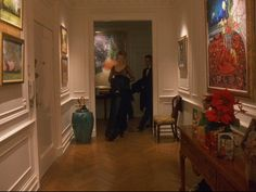 The entrance of the apartment in Eyes Wide Shut -all that art