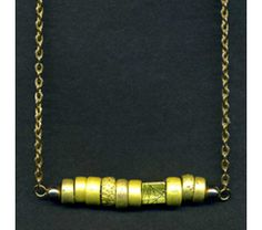 Necklace With Metallic Yellow Beads, $16.75 - SOLD