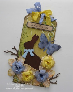 That's Life: tim holtz Easter Elements die http://stickydots.blogspot.com/2013/03/easter-bunny.html