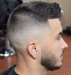 faded quiff hairstyle for men