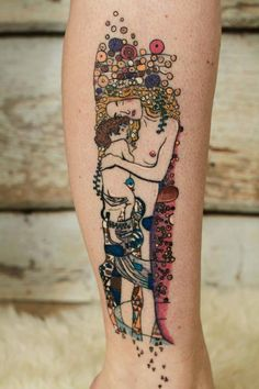 ‪#‎GustavKlimt‬ inspired ‪#‎tattoo by #SabineKiljan, photo by Rosalie Meijer.