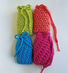 Crochet Pattern:4 Textured Soap Savers