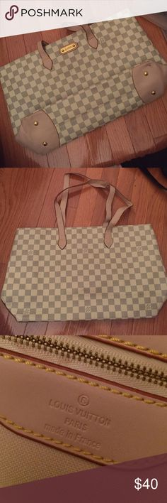 NOT AUTHENTIC Louis Vuitton Tote Pretty good knock off LV bag. Cute for a work or school tote :) Bags Totes