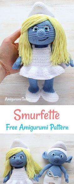 Kostenlose Smurfette Amigurumi Muster | Häkeln | Pinterest ...