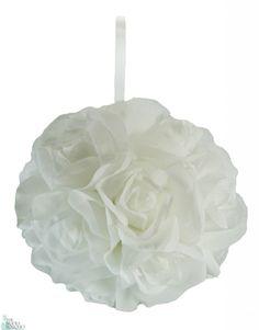 TheBridesBouquet.com - Garden Rose Kissing Ball - White - 6 inch Pomander                       , $9.99 (http://www.thebridesbouquet.com/garden-rose-kissing-ball-white-6-inch-pomander/)