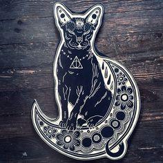 Black cat - tattoo idea