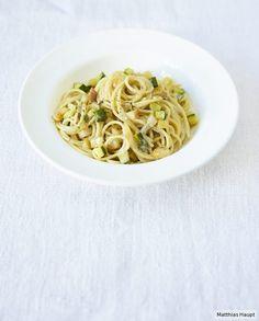 Zucchini-Carbonara mit Gorgonzola