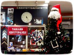 Kehystystöiden valmistusta valvoo itse joulupukki :)