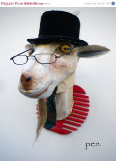 On Sale Animal faux taxidermy Trophy Head Made for by penhands, €49.30