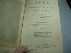 1892 Father Ryan's Poems 12th edition by ARTCPACKRAT on Etsy