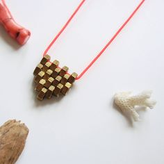 Excited to share the latest addition to my #etsy shop: Geometric brass necklace Minimalist necklace charm beaded necklace long necklace Brass necklace Gold unisex necklace Modern pendant necklace