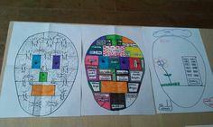 Opgeruimd hoofd. De eerste tekening: zo werkt mijn hoofd. De tweede tekening: zo zou ik het willen. De derde tekening: opgeruimd hoofd na coaching met de MatriXmethode