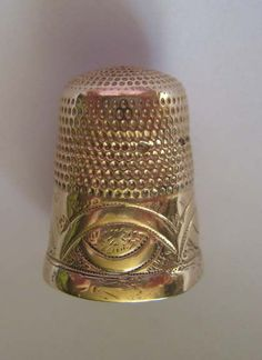Antique Gold Thimble