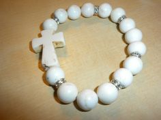white howlite cross