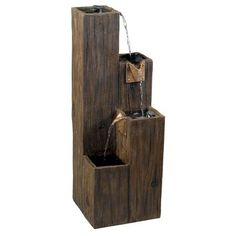 The Timber Indoor/Outdoor Fountain is perfect for any setting. This fountain is made of painted resin with a wood grain finish. It comes with a recirculating water pump, polished river stones, and easy to follow assembly instructions. Add some serenity to your life with the Timber Indoor/Outdoor Fountain.