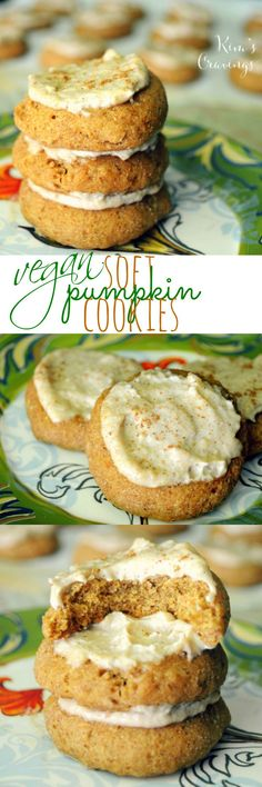 These vegan, melt in your mouth, pumpkin spiced, soft pillows of cookie deliciousness are topped with a vegan, all-natural cashew cream icing and are simply irresistible!