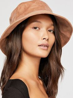 Free People Haven Vegan Suede Bucket Hat Cool Bucket Hats 85e90f687b6a