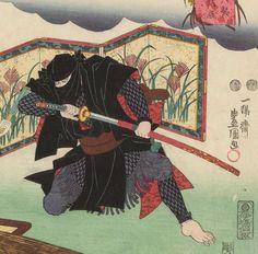 Traditional Japanese painting of Ninja. | Zbraně a zbroj ...