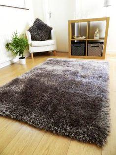 new luxurious thick pile rug modern soft silky shaggy rugs mats uk