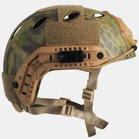 FAST PJ Tactical Airsoft Wargame Helmet Kryptek Camouflage Picatinny Wing-loc ARC NVG Mount