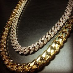 Chain link diamonds and gold