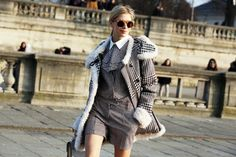 Elena Perminova spotted in Paris wearing Tommy Hilfiger Runway